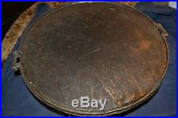 1630 1700 Cast Iron Hearth Griddle Puddle Poured 16 Inch Very Heavy Very Nice