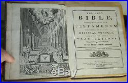 1772 LARGE antique family Holy Bible Old & New Testaments VERY NICE