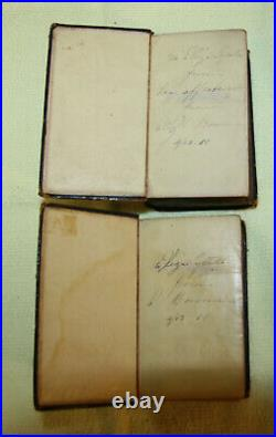 1841 pocket size 2vol. Antique Holy Bible VERY NICE