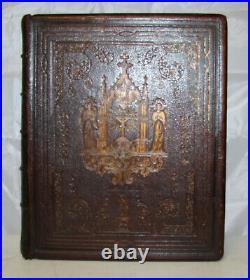 1853 1854 antique family Catholic Bible Douay Rheims very nice