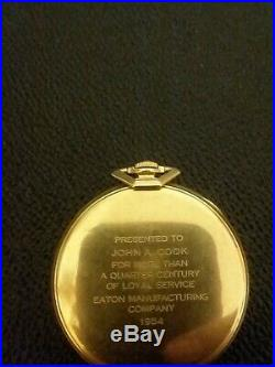 1950s 14k Solid Gold HAMILTON 21j POCKET WATCH 921 VERY NICE WORKING TIME PIECE