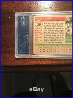 1955 Topps Ernie Banks Chicago Cubs #28 PSA 7 Very Nice