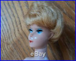 1961 Vntage Blonde Barbie Bubble Cut In Original Box Very Nice Set