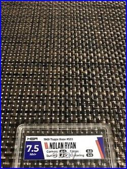 1969 Topps #533 Nolan Ryan Baseball Card Mets Hga 7.5 Nm+ Very Nice