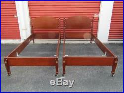 2- Biggs Furniture Mahogany Twin Beds Very Nice Bolt Bed Construction