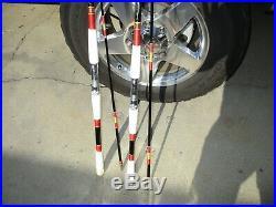 2-vintage Harnell Fishing Rod #680 11 Ft. Med & 804 9' Med Very Nice