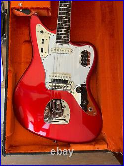 2012 Fender Jaguar 65 AVRI American Vintage Candle Apple Red Very Nice WithHSC