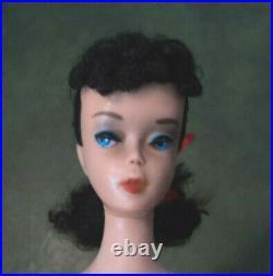 #4 Vintage Brunette Barbie Pony Tail Very Nice Doll 1960's