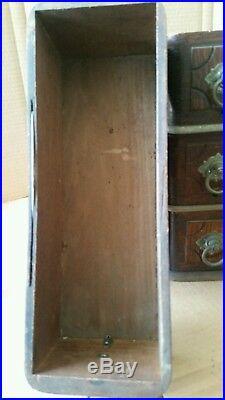 6 Very Nice Antique Treadle Sewing Machine Drawers Quarter Sawn Oak Good Pulls