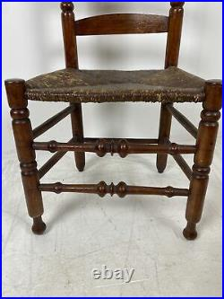 A Very Nice Antique Bergen County, New Jersey Ladderback Side Chair 1790s