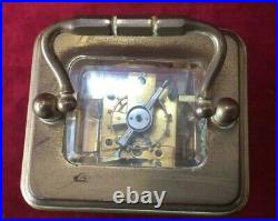 A Very Nice French Miniature Carriage Clock