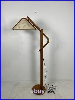 A Very Nice Vintage Danish Mid-Century Modern Teak Floor Lamp Circa 1970s