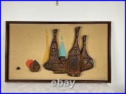 A Very Nice Vintage Witco Tiki Wine Bottle Wall Art 1960s