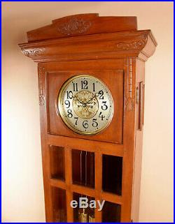 A very nice and decorative Dutch / Indonesian Longcase clock from circa 1900