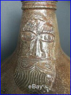 A very nice stoneware Bellarmine jug dating from the mid 17th. Cent