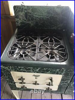 AMAZING Antique Art Deco Porcelain 1930's Magic Chef Gas Stove Very Nice
