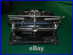 ANTIQUE HAMMOND MULTIPLEX FOLDING TYPEWRITER WithCASE Very NICE