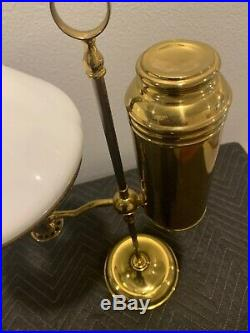 ANTIQUE MILLERS IDEAL NO. O BURNER BRASS STUDENT OIL LAMP LATE! 890's VERY NICE