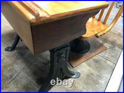 Antique 1920's Child's Adjustable School Desk & Chair Rare and very Nice No Res