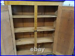 Antique 61 tall original grain painted Jelly Cupboard cabinet Vintage VERY NICE