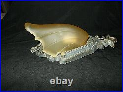 Antique Art Deco Slip Shade Wall Sconce Light Fixture Amber Glass Very Nice