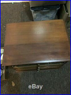 Antique Belding's Silk Thread Spool Cabinet Rare Very Nice With Contents L@@k