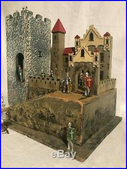 Antique Britains Charbens Johillco Castle And Knights Very nice Play set