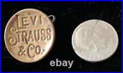 Antique Button Brass Levi Strauss and (apersand) Co. Button Very Nice