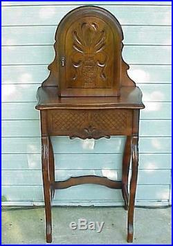 Antique Candlestick Telephone Stand / Desk / Cabinet. VERY nice