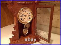 Antique Carp Mantle Clock Wm. L. Gilbert Clock Co USA Very Nice With Keys