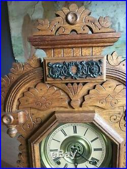 Antique E. Ingraham Kitchen Mantle Clock Very Nice And Works