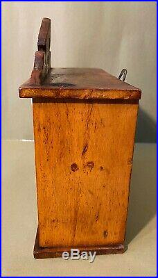 Antique German Wood Spice Cabinet Very Nice Condition