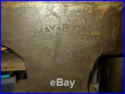 Antique Hay Budden Blacksmith Anvil 200 lb. Very nice Haybudden