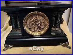 Antique Ingraham Mantel Clock Deco Repairs Parts Very Nice And Awesome