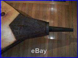 Antique Large 4' Wood Coffee Table Industrial or Blacksmith Bellows Very Nice