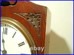 Antique Miniature Grandfather Clock 19th Century Working Very Nice