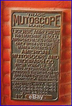 Antique Mutoscope Nickelodeon Arcade Very Nice condition Circa 1899-1905