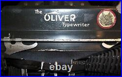 Antique OLIVER No. 5 Typewriter with Base and Lid Very Nice Condition