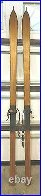 Antique / Old / Vintage Wooden snow skis OAK or Hickory Very NICE