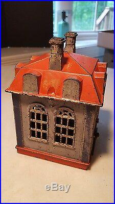 Antique Patent 1873 NOVELTY BANK Animated Mechanical Teller-Very Nice