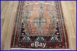 Antique Persian Heriz Hand Made runner rug, with very nice old colour 260 x 95cm