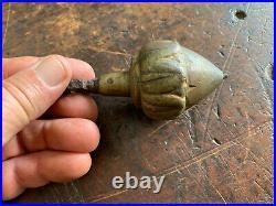 Antique Plumb Bob Ornately Cast Brass, Nut/Acorn Style Very Nice 400gm