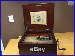 Antique REGINA Music Box (1800s) Very Nice 28 Discs included (Working)