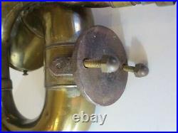 Antique RUBES BRASS Single Twist CAR HORN for 1913 1915 MODEL T FORD Very Nice