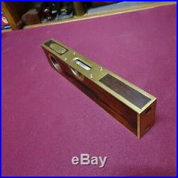 Antique Rare Stanley No 98 Brass Bound 9 Level and Plumb Very Nice Restored