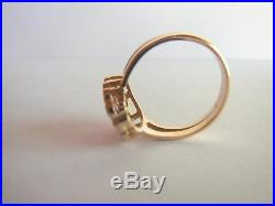Antique Ring 18K Gold, Rose Cut Diamonds & Synthetic Rubies VERY NICE