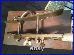 Antique STANLEY No 45 COMBINATION PLANE type 10 with 22 cutters boxed, very nice