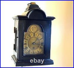 Antique Small Bracket Clock RUNS Thos. Pott London VERY NICE