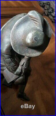 Antique Spelter Clock Topper Man Sculpture 4.5 Lbs VERY NICE