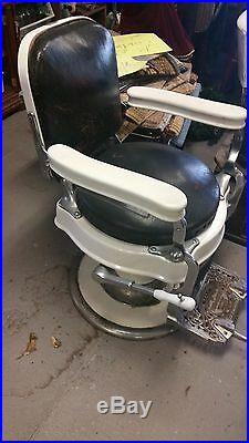 Antique Theo A Kochs Barber Chair Works Good Could Be Restored Very Nice